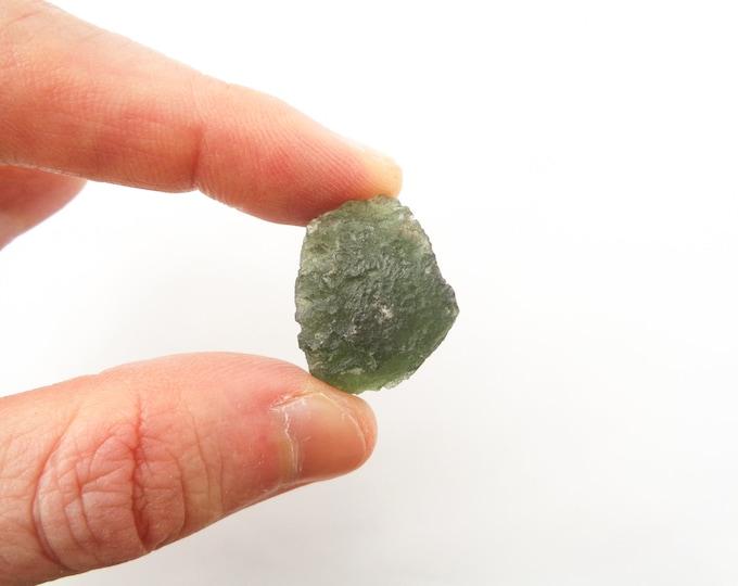 Moldavite Crystal, Raw Moldavite, Moldavite Gemstone, Genuine Moldavite, Moldavite Stone, Rough Moldavite, Moldavite Mineral, Meteorite 7.7g