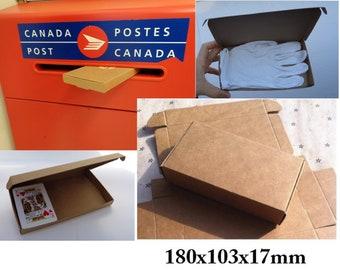 Kraft Paper Boxes, Gift Boxes, FITS through MAIL SLOT, 180x103x17mm, Jewelry Box, Soap Boxes, Kraft Folding Box, Paper Box, Save on Shipping