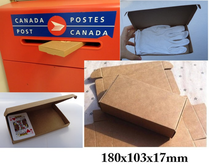Kraft Paper Boxes, Gift Boxes, FITS through MAIL SLOT, 180x103x17mm, Jewelry Box, Soap Boxes, Kraft Folding Box, Paper Box, Save on Shipping