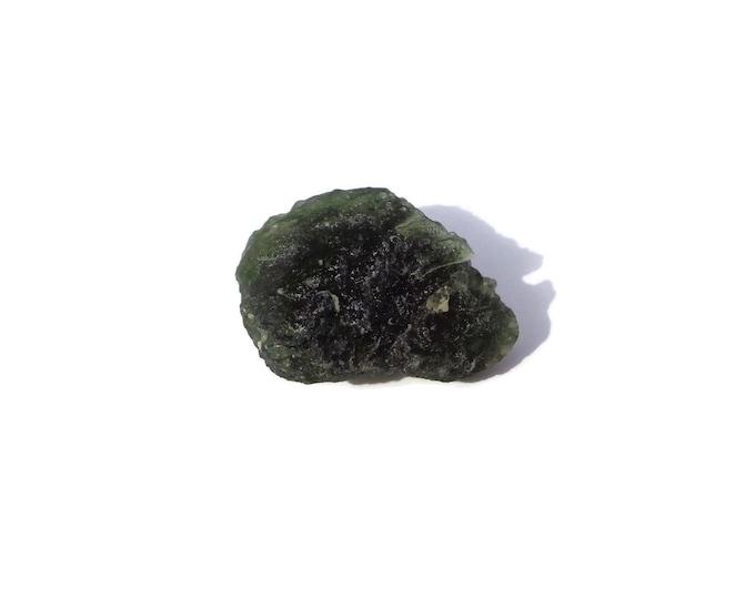 Moldavite Crystal, Raw Moldavite, Moldavite Gemstone, Moldavite Pendant, Moldavite Jewelry, Natural Moldavite Mineral, Meteorite 5.8g