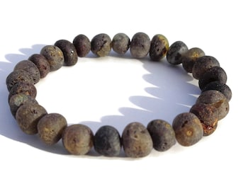 Raw BALTIC Amber Bracelet, 5-8 mm Beads, Real Amber Beads, Healing Amber, Pain Relief, Joint Pain, Reduce Swelling, Arthritis, Wrist Pain