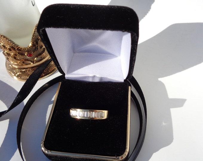Vintage Diamond Ring 18K Gold, Solid Gold Engagement Gemstone Diamond Ring, Unique Wedding Ring, Statement Ring Appraisal Value 4700