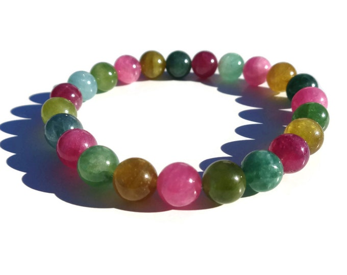 Tourmaline Bracelet, HIGH QUALITY Tourmaline, Natural Tourmaline, October Birthstone, Gemstone Bracelet, Mala Bracelet, Healing Bracelet
