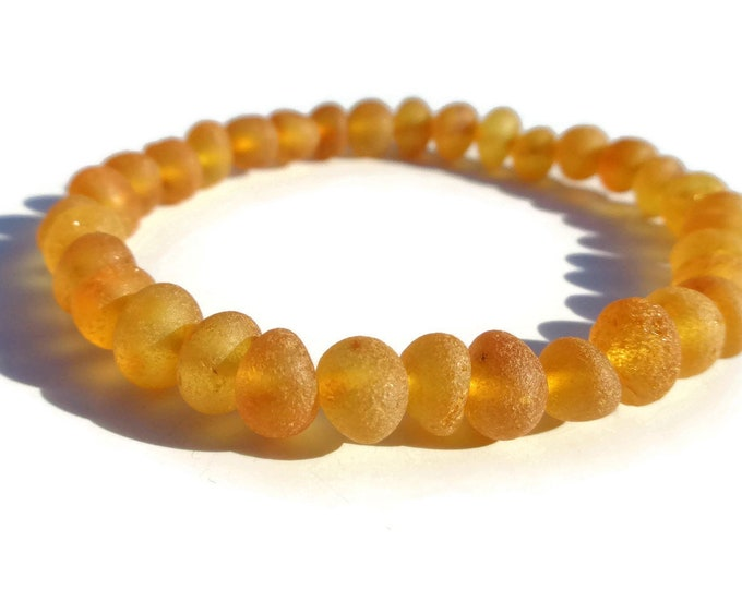 BALTIC Amber Bracelet, 8-9mm Beads, Raw Amber, Real Amber Beads, HONEY Amber, Amber for Pain Relief, Joint Pain, Reduce Swelling, Arthritis