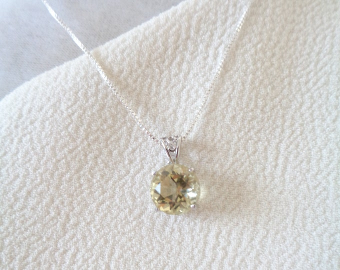 Citrine Pendant, Citrine Necklace, Faceted Citrine Gemstone, Prosperity Stone, Natural Citrine, 925, November Birthstone, Gift for Her