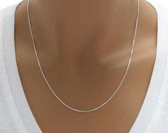 Sterling Silver BOX Chain, ITALY 925 Solid Sterling Silver Chain,Minimalist Jewelry Chain, Silver Necklace, Pendant Chain, Dainty Necklace
