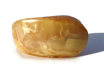 Royal Baltic Amber Stone, Russian Butter Amber Stone, 100% Natural Baltic Amber, Amber Pocket Piece, BUTTERSCOTCH Amber, Royal Amber, 48.6g