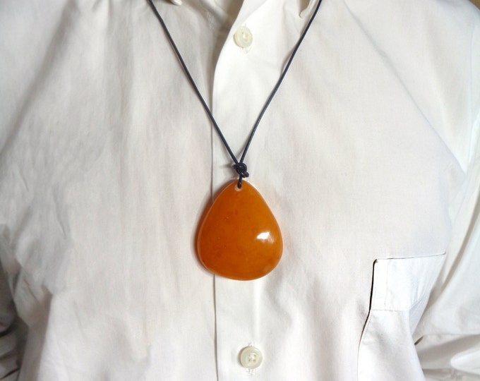 BALTIC AMBER Pendant, Amber Necklace, Butterscotch Amber, 100% Natural Amber Pendant, Amber Jewelry, Real Amber,  17 gr