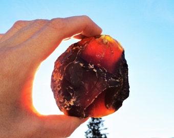 Amber Raw Unpolished Stone, 100% Real Amber, Sumatra Amber, Amber Fossilized Stone, Natural Amber Stone, 104 gr