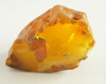 Baltic Amber Stone, Russian Amber Stone, 100% Natural Baltic Amber, Amber Fossil, Amber Palm Piece, BUTTERSCOTCH Amber, Royal Amber, 66.6gr