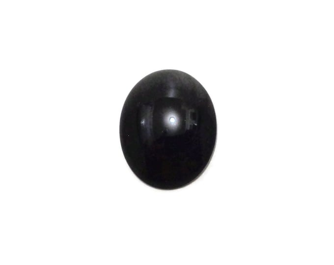 Obsidian Cabochon Pendant, Natural Obsidian, Black Obsidian, Obsidian Pendant, Obsidian Gemstone, Protection Stone, Gift for Her