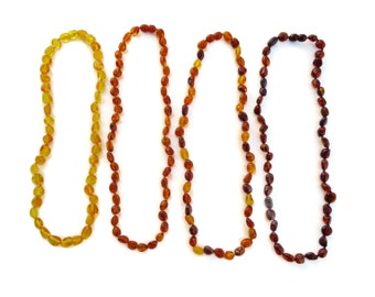 BALTIC AMBER Necklace, Amber Necklace, Polished Amber, Real Amber Beads, Handmade, 100% NATURAL Amber, Amber Jewelry, 19 inches