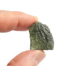 Moldavite Crystal, Raw Moldavite, Moldavite Gemstone, Genuine Moldavite, Moldavite Stone, Rough Moldavite, Moldavite Mineral, Meteorite,4.3g