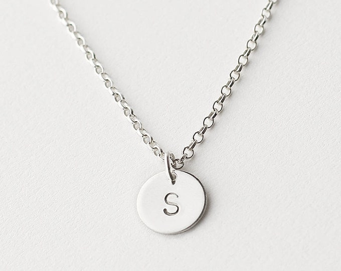 Initial Necklace, Personalized Necklace, Monogram Necklace, 925 SOLID Sterling Silver, Dainty Necklace,  Minimalist Necklace, Italian Chain