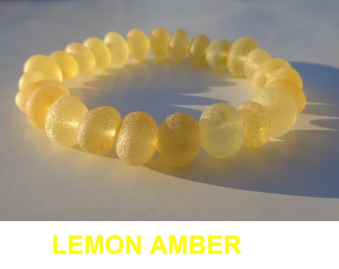 Raw Amber Bracelet, Amber Beads, Baltic Amber Bracelet, 8-9mm Beads, Amber for Pain Relief, Arthritis, Swelling, Joint Pain, Wrist Pain