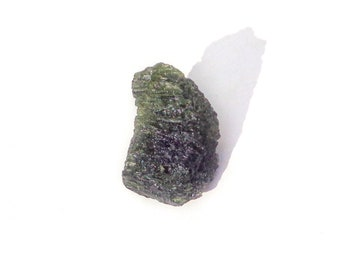 Moldavite Crystal from Czech Republic, Raw Moldavite Textite, 100% Genuine Moldavite Gemstone, Rough Moldavite Mineral Stone, Meteorite 6.6g