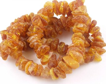 "Amber Necklace, 18"" to 80"", RAW Amber Necklace for Adults, BALTIC Amber For Pain Relief, Neck Pain, Migraine, Back Pain, Jaw Pain, Headaches"