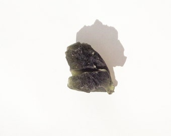 Moldavite Crystal from Czech Republic, Raw Moldavite Textite, 100% Genuine Moldavite Gemstone, Rough Moldavite Mineral Stone, Meteorite 9.3g