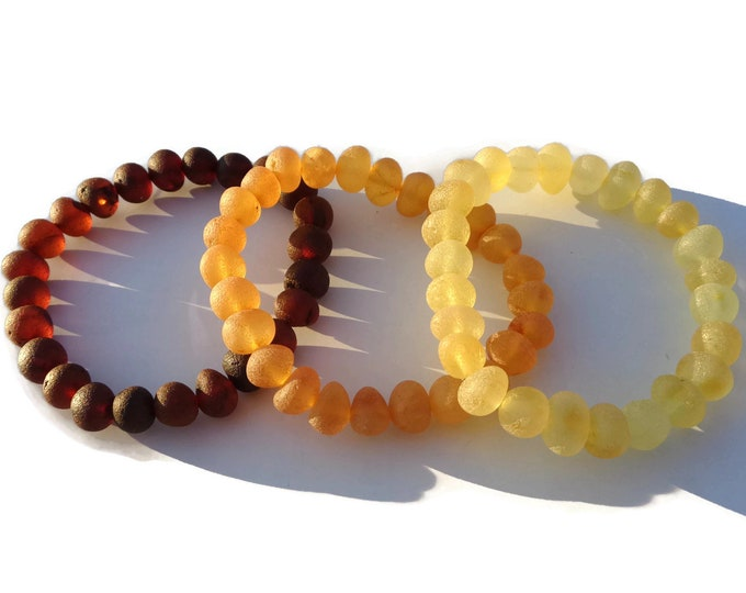 Amber Bracelet, LARGE Amber Beads, 8-9mm Amber Beads, Raw Baltic Amber Bracelet, Amber for Pain Relief, Arthritis, Swelling, Joint Pain