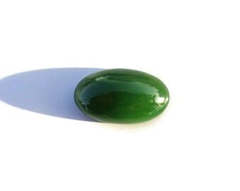 Jade Ring Cabochon, Green JADE Cabochon, Russian Jade, Siberian Jade, Nephrite Jade, Jade Pendant, Natural Jade, DIY Jade Jewelry, 4.1 gr