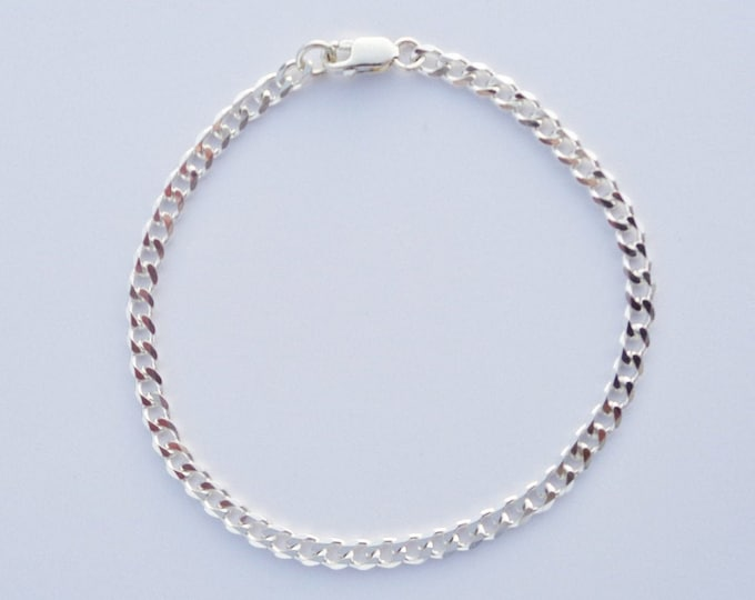 Ankle Bracelet For Women, 925 SOLID Sterling Silver Anklet Bracelet Cuban Link, Silver Miami Cuba Curb Anklets, Foot Jewelry for Women