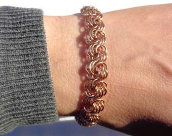 Vintage Gold Bracelet, 14 ct Gold, 585 Gold Solid Gold Bracelet, Custom Rose Gold Bracelet, Gold Bracelet Gift For Her, Valentines Day Gift