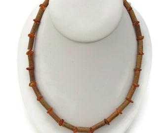 HAZELWOOD Necklace, Raw Baltic Amber Beads, Healing Hazelwood 5-6mm Beads, Natural Treatment for Acid Reflux, Acidosis, Eczema, Psoriasis