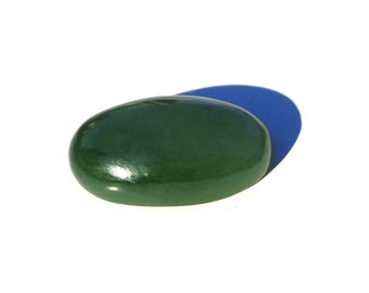 Rich Green JADE Cabochon, Russian Jade, Siberian Jade, Green Apple Jade Cabochon, Jade Ring, Natural Jade, Nephrite DIY, 4.8 gr