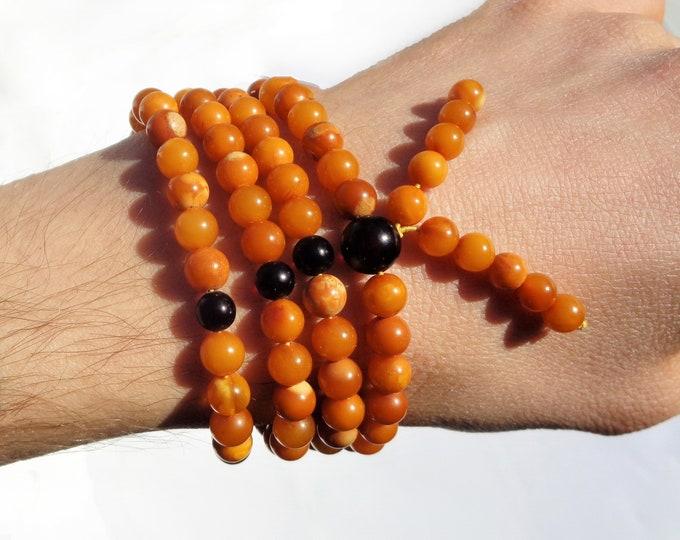 Baltic Amber Necklace  108 Prayer Beads, Mala Beads, Japa Mala, Rosary, 108 Buddha Prayer Necklace, Om Necklace, Natural Butterscotch Amber