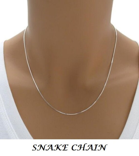 Made in ItalySolid 925 Sterling Silver 1.2mm Diamond-Cut Round Magic Snake Chain