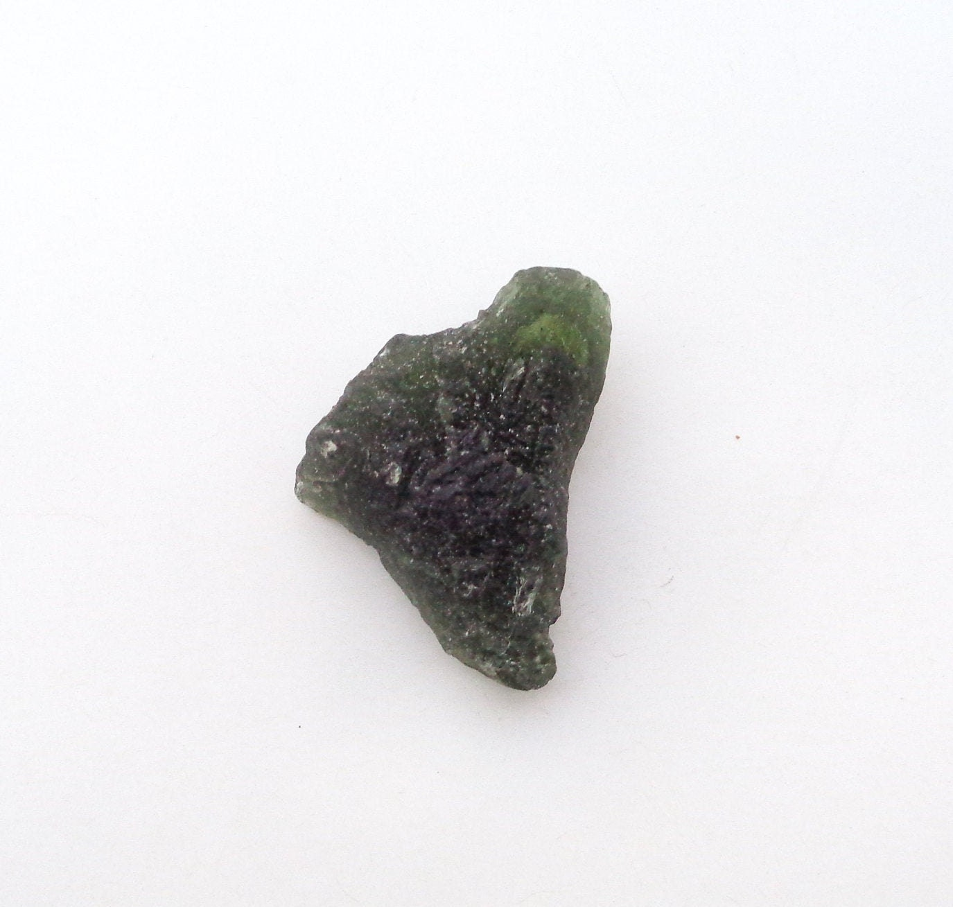 Crafts 15713 Raw Materials Suppliers Awesome Natural Green Moldavite Rough Gemstone For Making Jewellery Size 19x15x3.5 MM Czech Republic