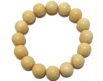 BALTIC AMBER Round Beads Bracelet, 12 mm Real Amber Beads, Natural Pressed Amber, 14.8 grams