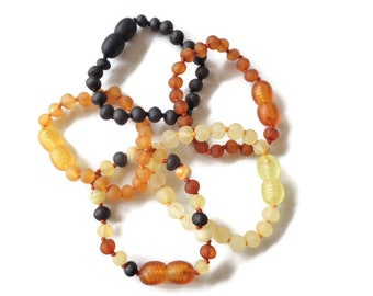 Authentic Baltic Amber Children's Bracelet, Amber Anklet for Children, 100% Natural Amber Beads, Extender, Anti Inflammatory, Reduce Pain