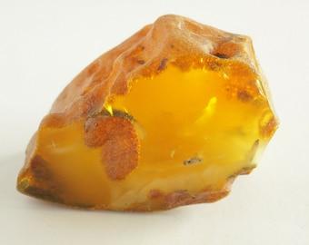 Baltic Amber Stone, Russian Amber Stone, 100% Natural Baltic Amber, Amber Fossil, Amber Palm Piece, BUTTERSCOTCH Amber, Royal Amber, 66.6gr