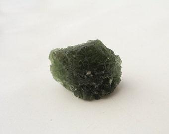 7.7g Moldavite Crystal from Czech Republic, Raw Moldavite Textite, 100% Genuine Moldavite Gemstone, Rough Moldavite Mineral Stone, Meteorite