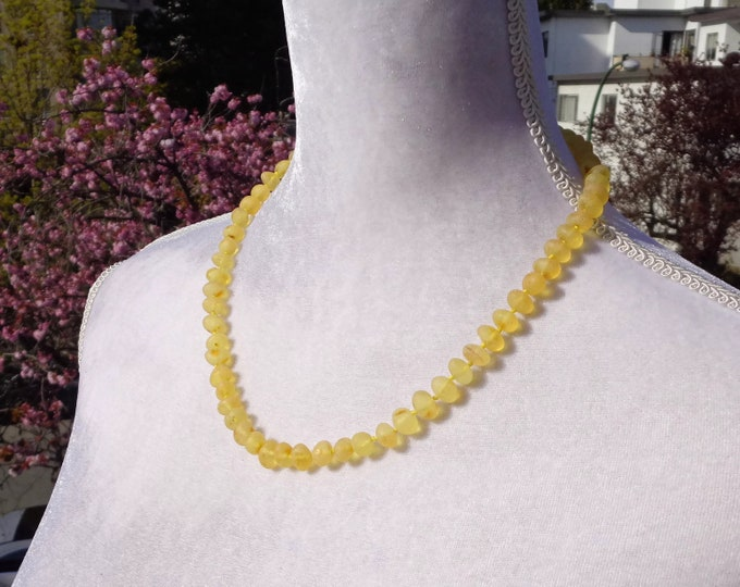 Amber Necklace, Raw Baltic Amber Necklace For Adults, Amber for Pain Relief, Headache, Neck Pain, Back Pain, **LARGE Real Amber Beads**