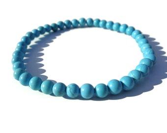 Turquoise Bracelet, Turquoise Beaded Bracelet, Boho Bracelet, Turquoise Beads, Stacking Bracelet, December Birthstone, Gift for Her