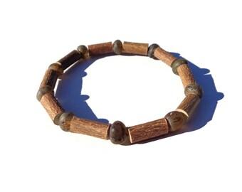 HAZELWOOD Bracelet, Eczema Relief, Raw Baltic AMBER Beads, Hazelwood Beads, Skin Rash, Eczema Treatment, Psoriasis, Acid Reflux, Acidosis