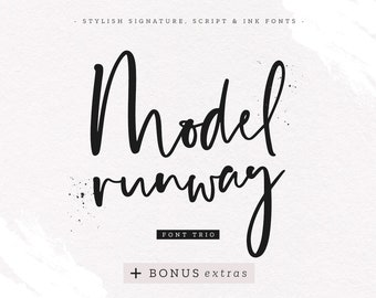 Fashion font | Etsy