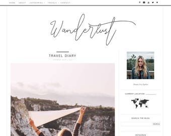 Blogger template | Etsy
