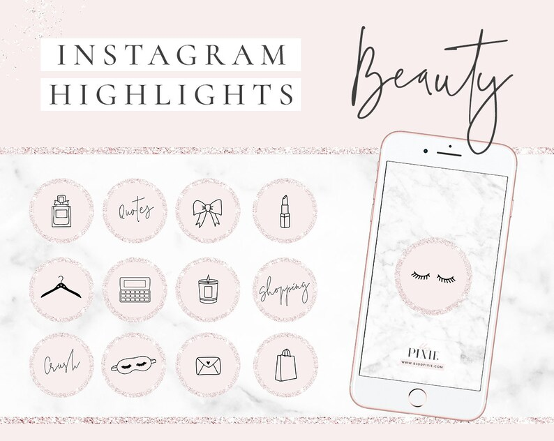 Instagram Story Highlight Icons  Beauty  Fashion  Blogger  image 0