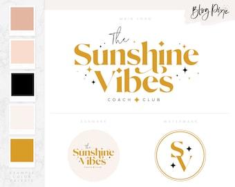 Modern Logo Design - Boho Logo - Coach Logo - Podcast Logo - Branding Kit - Colorful Logo Design - Blog Pixie