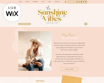 Wix Website Template - Ecommerce - Social Media Coach Website - Creative Wix Layout - Wix Web Design - The Sunshine Vibes - Blog Pixie