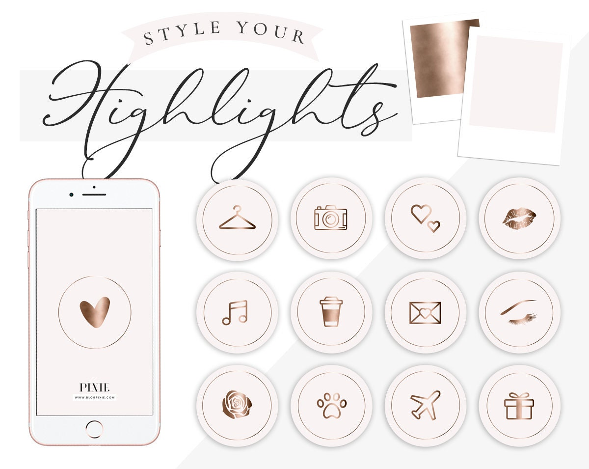 Instagram Highlight Covers Pink Marble