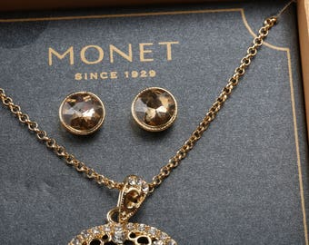 Monet Necklace Set Etsy