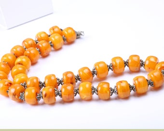 Vintage 1930s Faux Amber Resin Necklace