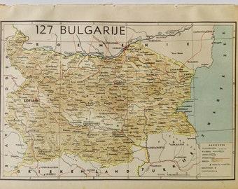 1940's Map of Bulgaria