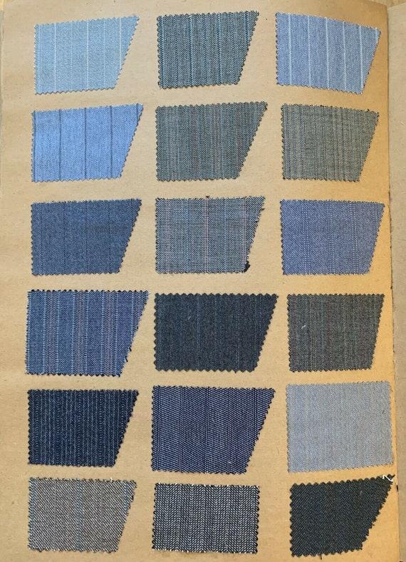 Wonderful swatch book of men's 20th Century woolen stripes and tweeds 5148