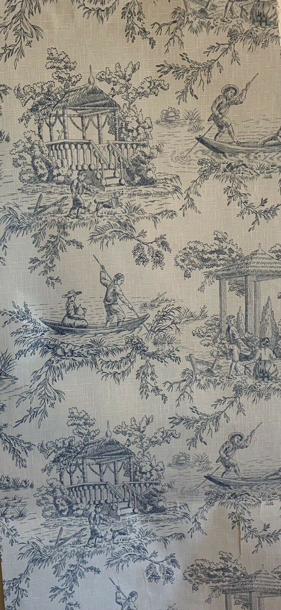 Beautiful early 20th Century French scenic Toile wallpaper 5064