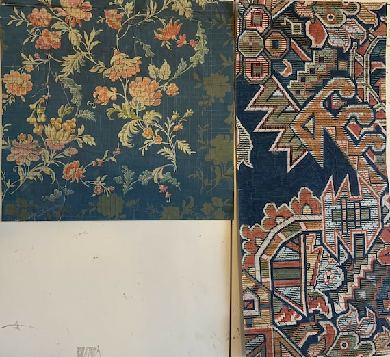 19th Cent. French Textile Design Paintings For Woven Development 4073